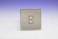 Varilight Eclique 2 Brushed Steel 1-Gang 1-Way Remote Control/Touch Master LED Dimmer 1 x 0-100W